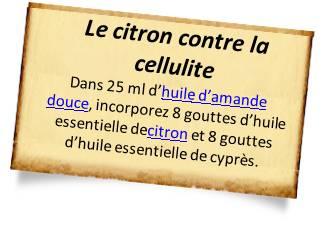 cellulite huile essentielle de citron