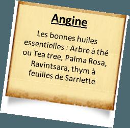 traitement angine autres huiles essentielles