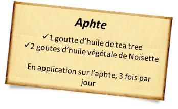 huile de tea tree contre aphte
