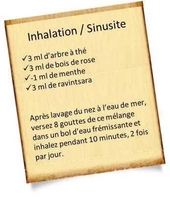 soigner une sinusite par inhalation d'huiles essentielles