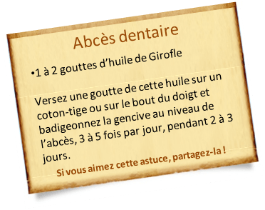 abcès dentaire girofle