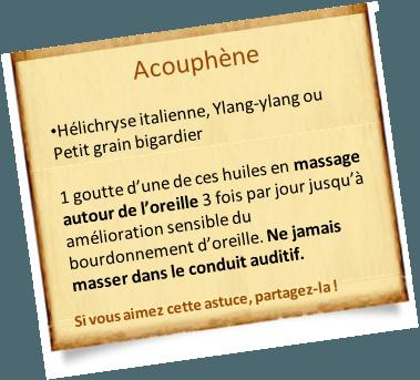 acouphène huiles essentielles