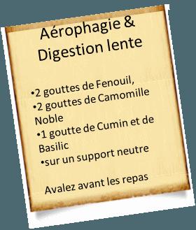 aérophagie et digestion lente