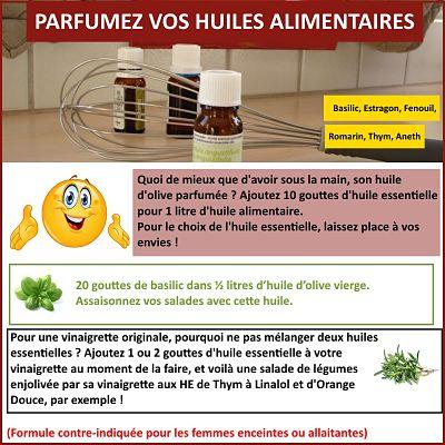 aromatisez vos huiles alimentaires avec des huiles essentielles