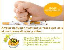 arrêter de fumer avec les huiles essentielles
