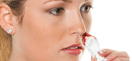 comment arrêter un saignement de nez ?