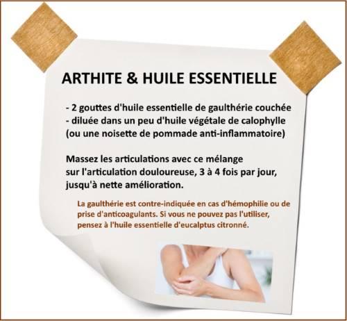 arthrite huile essentielle gaulthérie