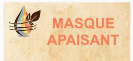 masque apaisant aux huiles essentielles