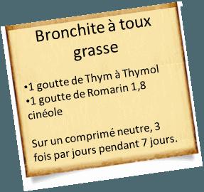 soigner une bronchite avec toux grasse