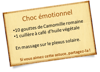 camomille romaine choc émotionnel