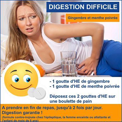 digestion difficile huile essentielle