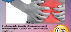 Gastrite et huile essentielle de Génièvre