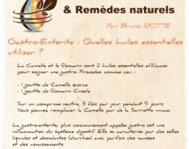 gastro enterite huile essentielle