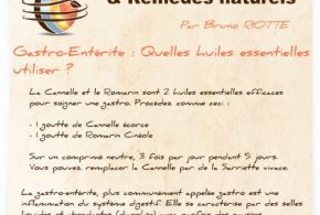 Gastro-enterite : Mes recettes aux huiles essentielles