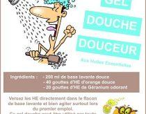 gel douche huiles essentielles