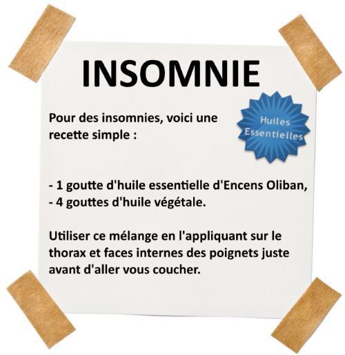 huile essentielle encens oliban contre les insomnies