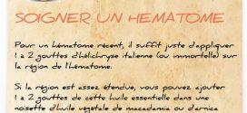 Soigner un hématome avec l'hélichryse italienne