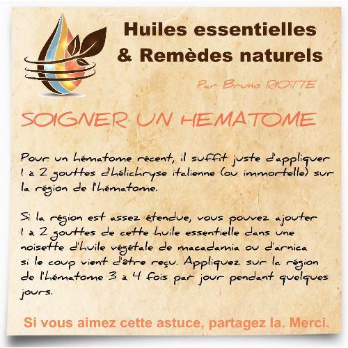 huile essentielle hélichryse italienne contre un hématome