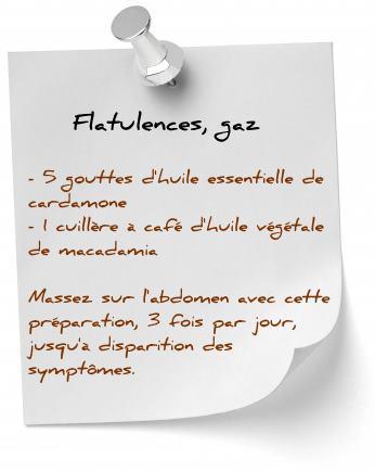 huile essentielle cardamone flatulences