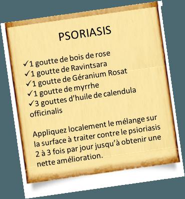 huile essentielle de géranium rosat psoriasis