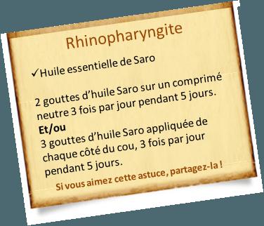 huile essentielle saro rhinopharyngite