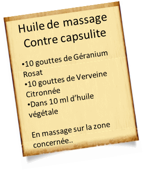 huile de massage pour capsulite