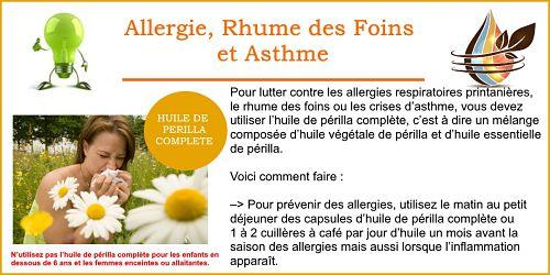 asthme et allergie avec l'huile de perilla