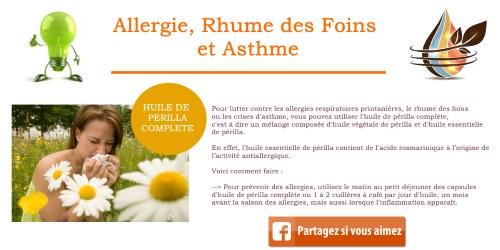 huile perilla asthme allérgie