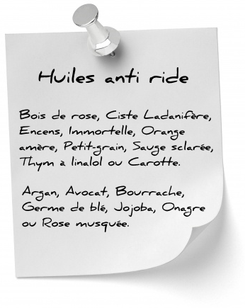 huiles anti ride naturel