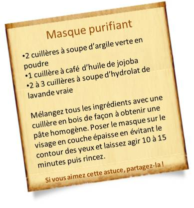 masque purifiant visage 5 recettes pr parer chez vous. Black Bedroom Furniture Sets. Home Design Ideas