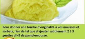 Mousses et sorbets aux huiles essentielles