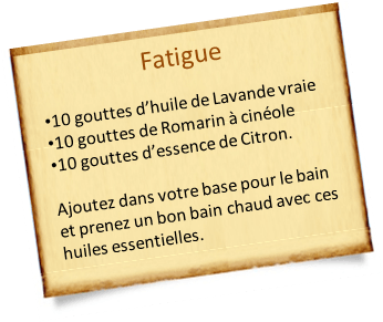 romarin à cinéole fatigue