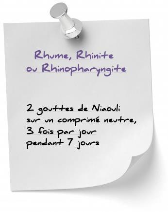 soigner rhinopharyngite avec niaouli