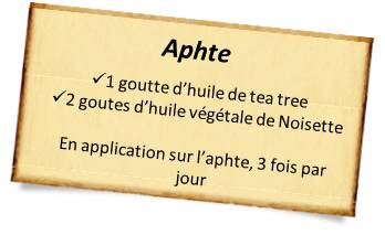 huile de tea tree contre aphte