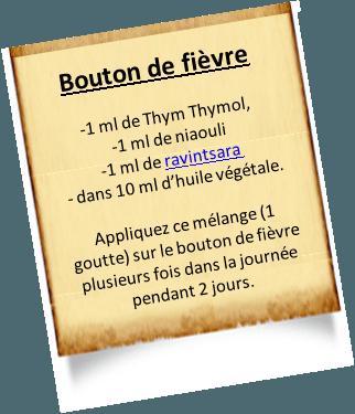 le thym thymol contre les boutons de fièvre