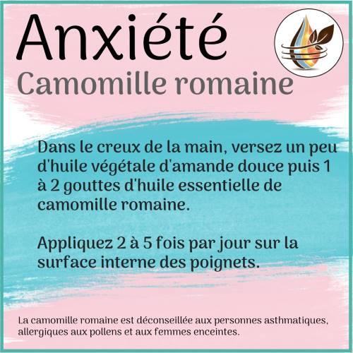 huile essentielle de camomille romaine contre l'anxiété