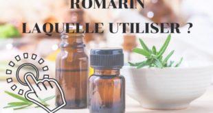 Huile essentielle de romarin : Laquelle utiliser ?