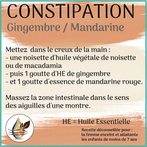 constipation he gingembre et mandarine
