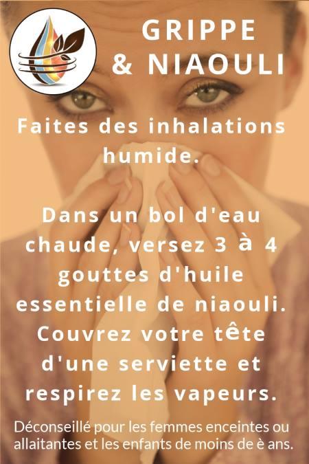 inhalation d'he de niaouli contre la grippe