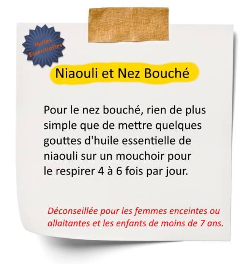 Débouchez le nez avec l'huile essentielle de niaouli