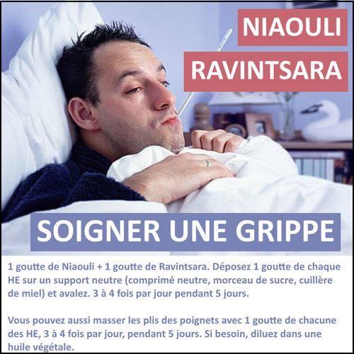 soigner la grippe avec les he de niaouli et de ravintsara