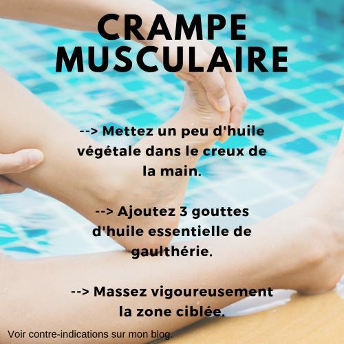 Crampe muscualire et huile essentielle de gaulthérie