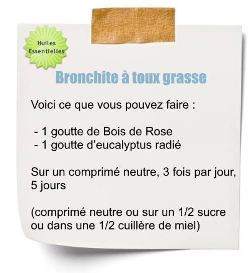 Soignez une bronchite avec l'huile essentielle de bois de rose
