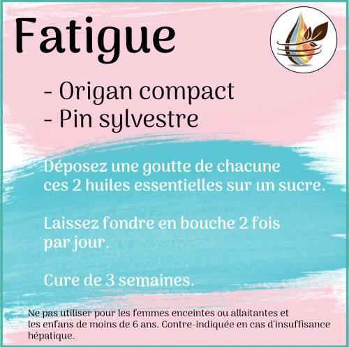 cure contre fatigue avec les huiles essentielles.