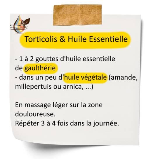 Comment soigner un torticolis avec l'huile essentielle de gaulthérie