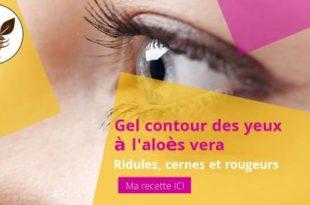 gel contour des yeux à l'aloès vera et aux huiles essentielles