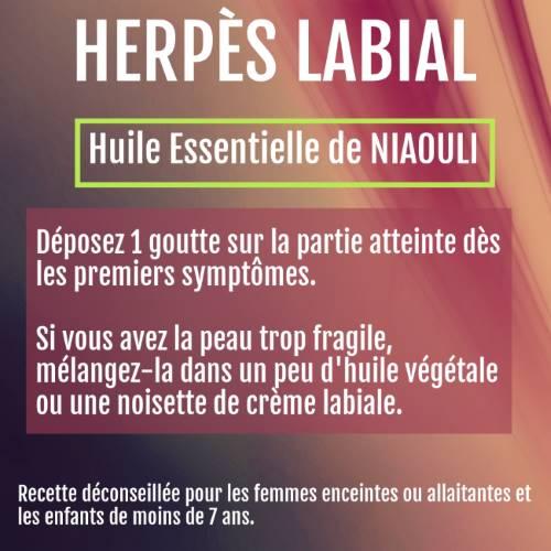 herpès labial et huile essentielle de niaouli