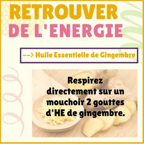gingembre et énergie