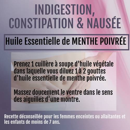 indigestion huile essentielle de menthe poivrée