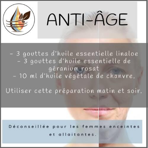 huile de chanvre anti-âge